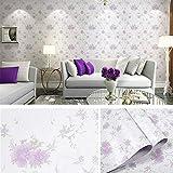 LZYMLG Sala de estar moderna Decoración de pared Pegatina Vinilo Autoadhesivo Papel pintado de madera Rollo Dormitorio Renovación de muebles Película impermeable de PVC Rosa purpura