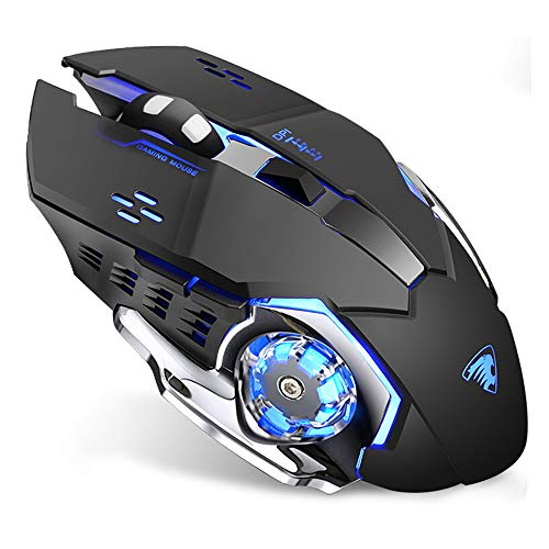 Uciefy Rechargeable Wireless Mouse, 2.4G Ergonomic Silent...