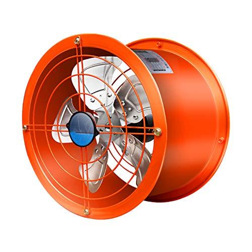 FREEDOH Ventilador Escape Conducto 1400r / min Ventilador Centrífugo Aleación Aluminio 5 Aspas Ventilador Conducto Motor Doble Rodamiento Bolas Cobre Puro para Cocinas Fábricas, Etc,8inch