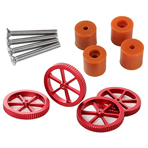 Fransande Ender-3 / S CR-10 / S Hot Bed Leveling Spring Silicone Column Nuts Upgraded Replacement for 3D Printer Accessories