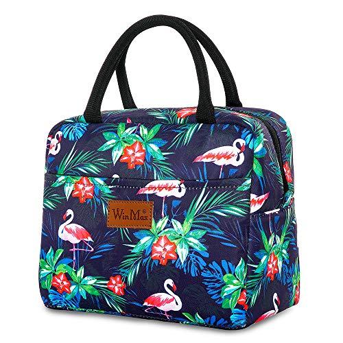 Winmax - Bolsa térmica para el almuerzo, elegante fiambrera para mujer, aislante, bolsa para el trabajo, playa, picnic, escuela, mantener fresco