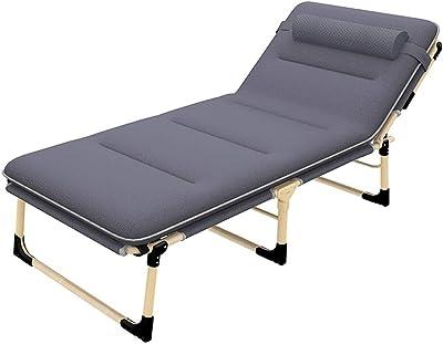 LSX Lit Pliant - Lit Pliant inclinable lit Simple Bureau Sieste déjeuner lit accompagnant élargi à Un Tampon de Coton de 68 cm lit Pliant