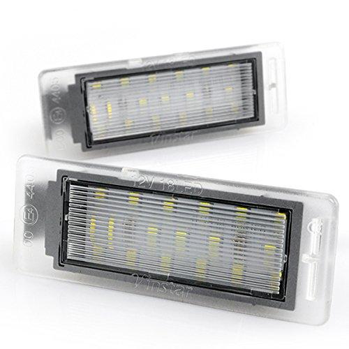 LIGHTDELUX Ersatz für 2 x LED Kennzeichenbeleuchtung ohne Fehlermeldung mit E-Prüfzeichen kompatibel mit Mokka ab 2012, Insignia Sports Tourer ab 11.2013 V-031908