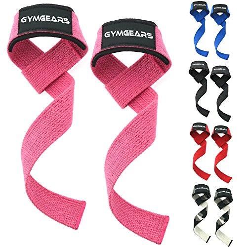 GYMGEARS Profi Zughilfen [Gepolstert] 60 cm für Krafttraining, Bodybuilding & Fitness - Für Frauen...