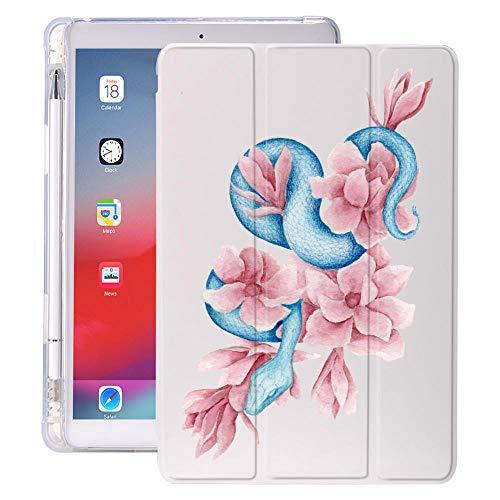 lingtai Arte de Serpiente con Soporte de lápiz para iPad Air 3 10.5 Pro 11 2020 Air 4 10.9 2018 9.7 6º 7º Caso de la 8ª generación 10.2 2019 Mini 5 (Color : 628, Size : 7 8)