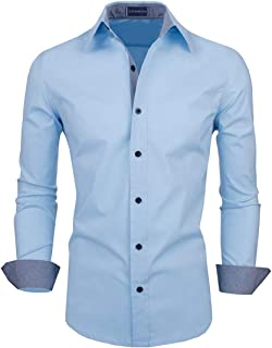 Zombom Men's Full Sleeve Cotton Casual Shirt