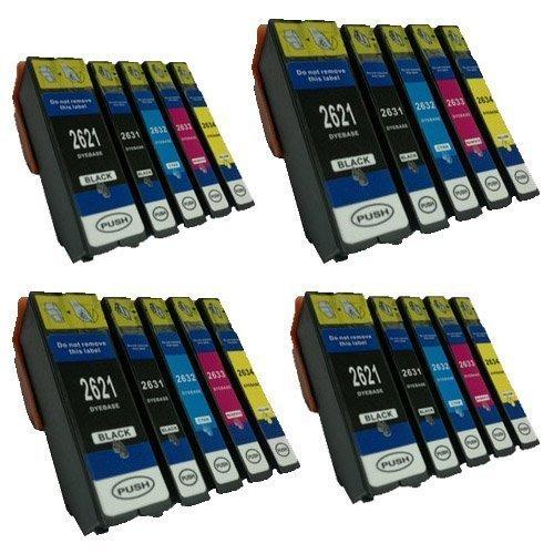 20 cartuchos de tinta compatibles para Epson XP-600 XP-700 XP-800 XP-605 XP-510 XP-810 XP-710 XP-615 XP-610 XP-520 XP-620 XP-625 XP-720 XP-820 BL-T2621 2632 2633 2634 con chip