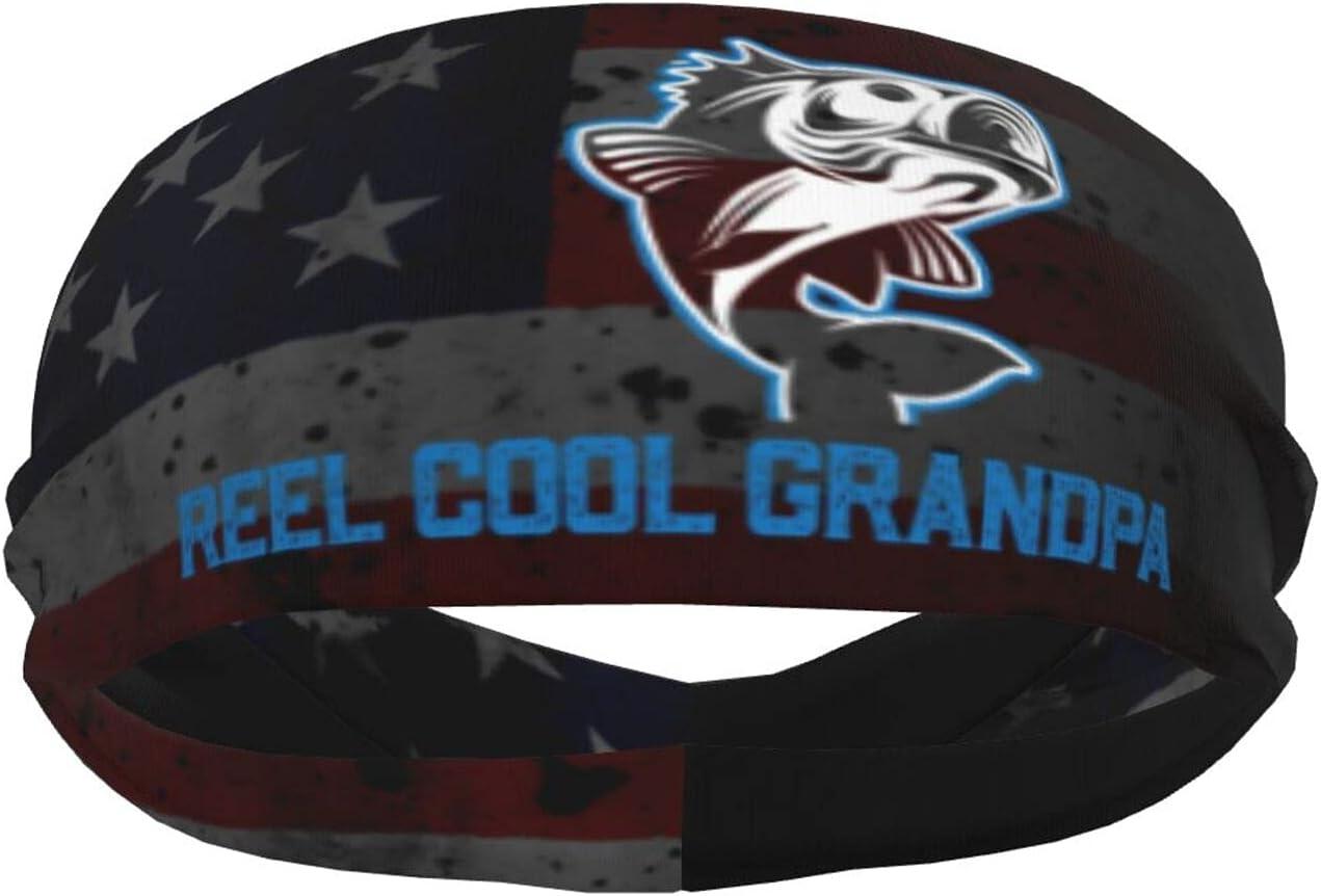 Ldmsl Reel Cool Grandpa Fishing Sweatban Athletic Elastic Unisex 4 years warranty Outlet ☆ Free Shipping