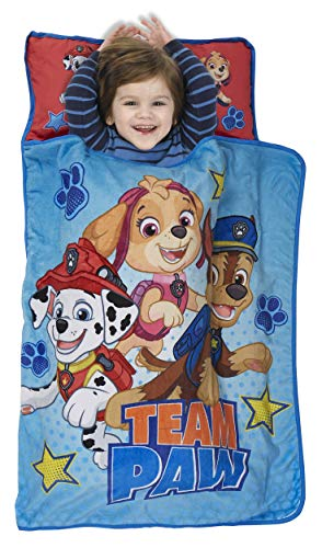 Paw Patrol Team Paw Toddler Nap Mat - Includes Pillow &...