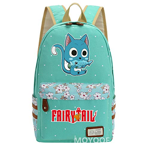 Anime Fairy Tail SD Happy Carla Lily Mochila Happy Costume Mujer Daypack 1