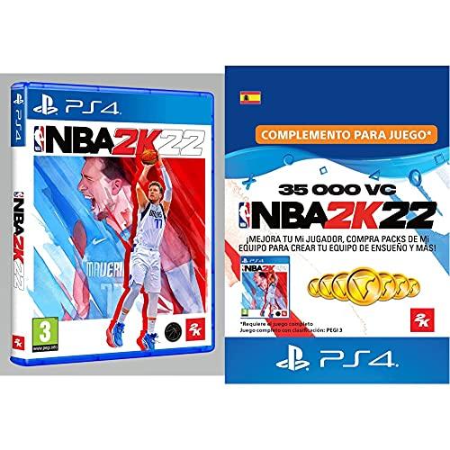 NBA 2K22 Estándar (PlayStation 4) + 35,000 VC (Código de descarga - Cuenta española)