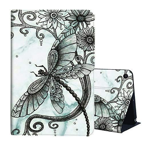 Case for All-New Kindle Fire HD 8 Tablet (10th Generation,2020 Release), AIRWEE Slim Leather Stand Smart Cover with Auto Wake Sleep for Amazon Fire HD 8 Plus,Flying Dragonfly