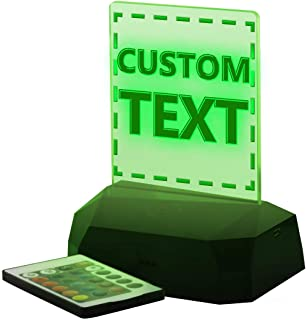 Your Text Here - Custom & Personalized LED USB Rechargeable Edge Lit Sign