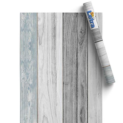Papel Adhesivo de Madera de Vinilo para Muebles y Pared - 45x300cm - Madera Vintage - Vinilo Resistente, Impermeable y Removible, VM-11