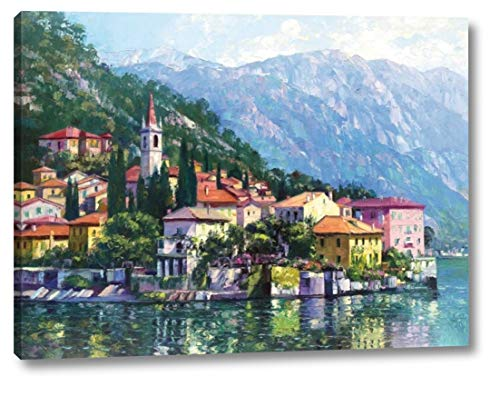 """Reflections of Lake Como by Howard Behrens - 18"""" x 24"""" Canvas Art Print Gallery Wrapped - Ready to Hang"""