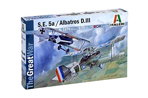 Italeri 1374 - S.E.5a And Albatros D.III Model Kit  Scala 1:72