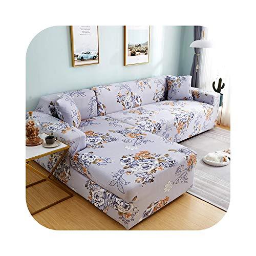 Sofa Covers - Funda de sofá esquinera, funda elástica para salón L en forma de esquina seccional, tumbona larga de 2 piezas, color 15-3 y 3 seat
