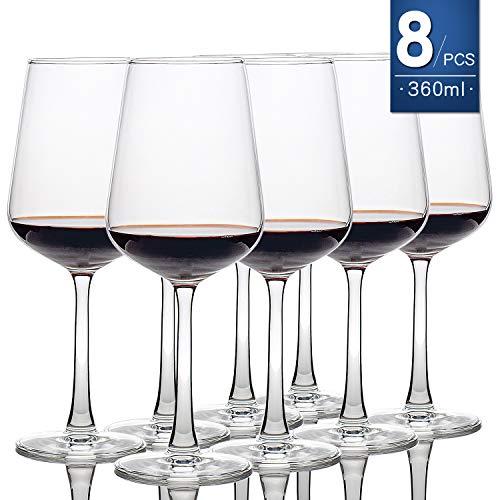 Copas de vino [juego de 8,360 ml] copas de vino blanco y rojo, Basic Clear Sturdiness