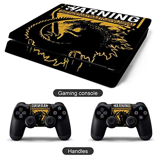 WARNING RADIATION PS4s Slim 2controller and console skin sticker protective cover wireless for Sony PlayStation 4 Slim
