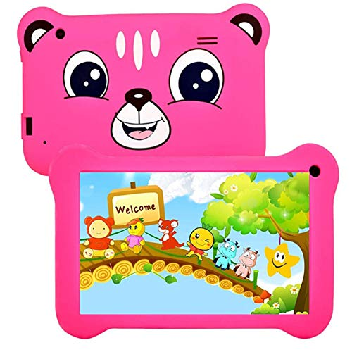 ZYING 7 inch Kids Tablet,WiFi Tablet with Parental Control Function and Protective Case,7 inch HD Screen,Dual Cameras,1GB RAM+16GB ROM,Bluetooth,Android 8.1 System,Blue,Pink