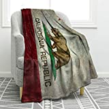 Jekeno California Vintage Flag Blanket Print Comfort Blanket for Couch Bed Chair Office Sofa 50'x60'