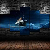 Decorsy Wandkunst Leinwanddrucke Bilder Tapete Titanic Home
