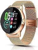 Ruisan Smart Watch para Android & amp AMP iOS Fitness Tracker con Monitor de Ritmo cardíaco SmartWatch con Step Counter Sleep Monitor Calorie Counter Stop Fitness Watch para Mujeres Hombres
