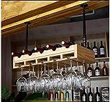 Clásico Vino cremallera de una pieza de madera de cerezo rojo / Castaño / Negro nogal / madera natural / Bronce Suspensión Telescopic Boom 5 colores disponibles for la mayoría cubiletes 80cm: 6 botell