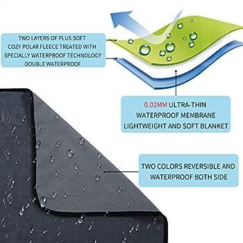 softan Couverture imperméable 100 % anti-fuite pour bébés, adultes, chiens, chats, 3 couches de protection pour lit, canapé et canapé,causeuse 178 x 230 cm,gris anthracite | gris clair, réversible