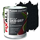 FIXALL Skid Grip Anti-Slip Paint, 100% Acrylic Skid-Resistant Textured Coating - F06505 - 1 Gallon, Color: Jet