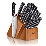 Cangshan V2 Series 1024128 German Steel Forged 23-Piece Knife Block Set, Acacia