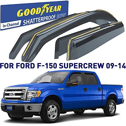 Goodyear Shatterproof in-Channel Window Deflectors for Trucks Ford F150 2009...