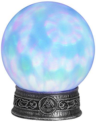 Widmann ? Boule de cristal avec base lumineuse caleidoscopiche pour adultes, turquoise, Taille unique, vd-wdm07102