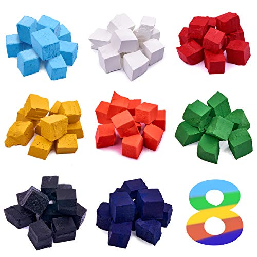 Wax Dye 8 Colors - Candle Color Dye - Candle Dye Blocks - Candle Making Color Dye - Soy Dye for Candle Molds - Soy Candle Wax Kit - Soy Wax Color Chips for Making Scented Candles