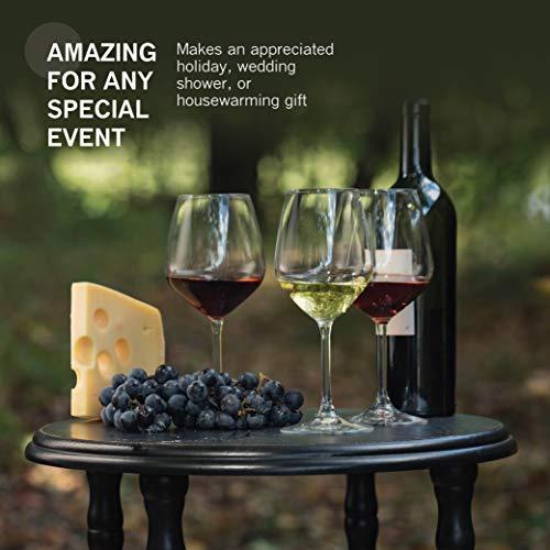 Bormioli Rocco 18oz Red Wine Glasses (Set Of 4): Crystal Clear Star Glass, Laser Cut Rim For Wine Tasting, Lead-Free Cups, Elegant Party Drinking Glassware, Dishwasher Safe, Restaurant Quality