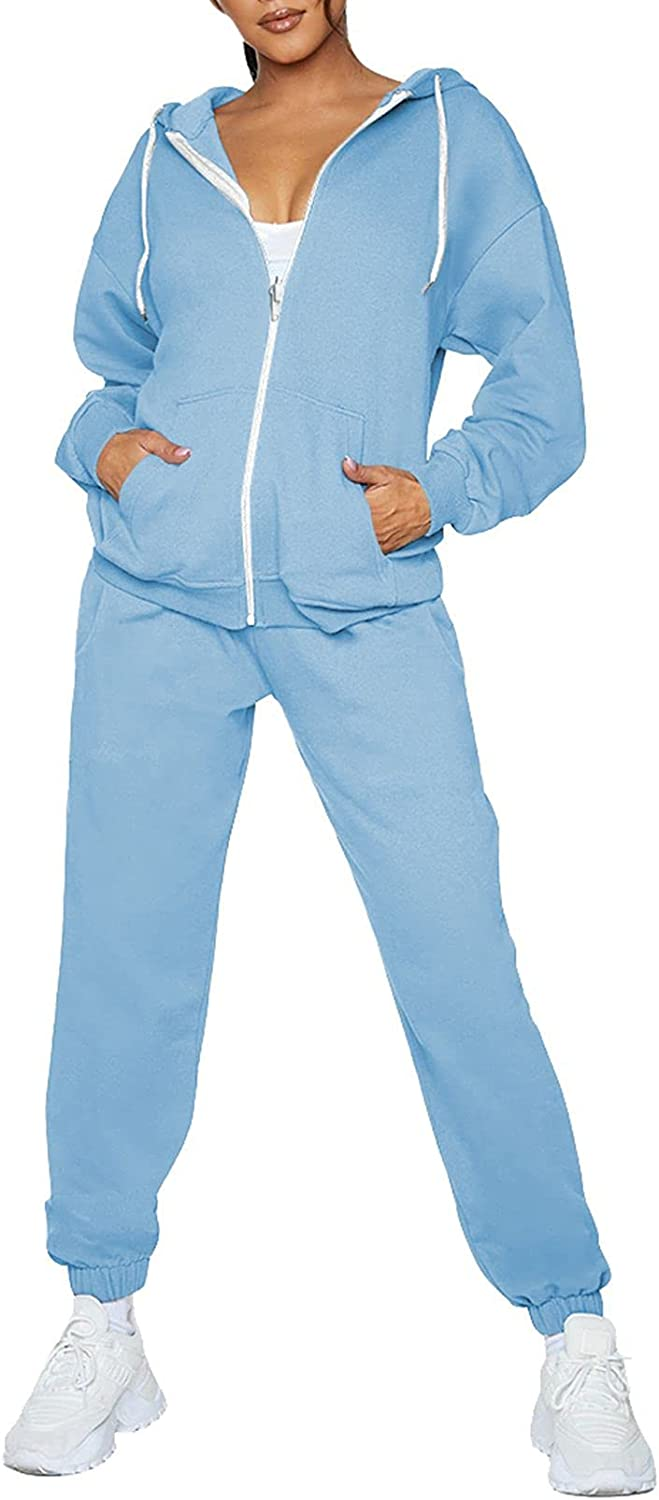 Fixmatti Max 64% OFF Womens Tracksuit Zip Up Sweatsuits Sets Jogger New arrival w Hoodie