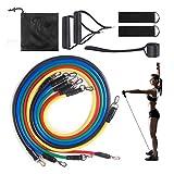 0BEST Bande Resistance Fitness 11Pcs Kit Elastique Musculation pour Le...