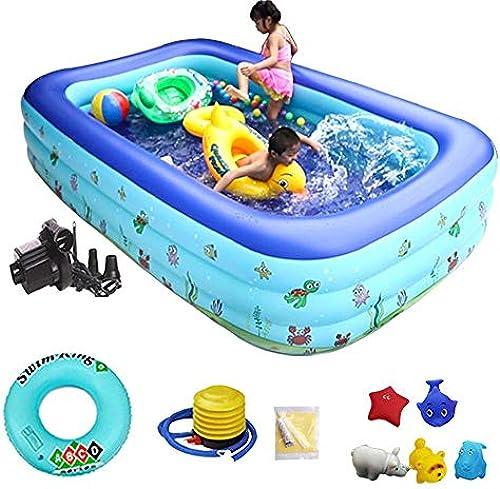 inflatable toys 1,5 M Sommer Neue Kinder Aufblasbarer Pool, Familie Erwachsenen Planschbecken Ozean Pool Sand Pool Badewanne Aufblasbare Spielzeuge, Geeignet Für Garten Im Freien A- 250  170  60cm