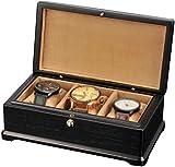 NBVCX Inicio Accesorios Caja de Reloj para Hombres3 Ranuras para Relojes Organizador de Joyas Vitrina de Almacenamiento de Madera con 3 Almohadas de Almacenamiento extraíbles