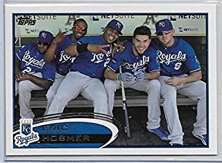 2012 Topps Baseball Eric Hosmer In Dugout Short Print Variation Card # 35
