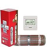 elektrische Fußbodenheizung FOXYMAT.SL RAPID (200 Watt pro m²) mit Thermostat QF-WHITE, 10.0 m² (0.5m x 20m)