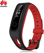 PADY Huawei Honor Band 4 Running Edition All-in-One Activity Tracker Smart Fitness Wristband GPS Multi-Sport Mode 5ATM Waterproof Anti-Lost Running Edition (Willful Red)