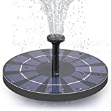 Lewisia 2.5W Battery Backup Solar Water Pump 2021 Upgraded Solar Panel Freestanding Floating Birdbath Fountain with Water Flow Adjustment Bird Bath Fountain Pump for Small Pond Garden Decoration