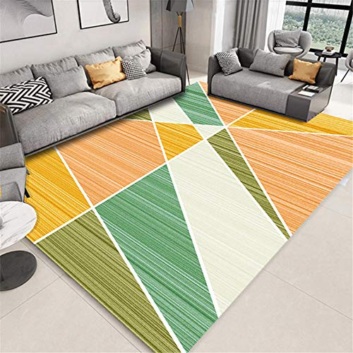 Kunsen Chair Mat For Carpet Floor Green geometric irregular pattern simple style easy care carpet office Rugs Bedroom Room Extra Large Rugs green 50X80CM