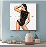 KUANGXIN Demi Lovato Album Cover - Confident Canvas Poster Wall Art Decor Print Picture Paintings for Living Room Bedroom Decoration (60X60Cm)-24x24 Inch No Frame