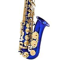 サックス アルトサックス プロフェッショナルアルトのEb SAXケース、潤滑剤、ケース、ストラップ、マウスピースなどとサックス 初心者入門セット (Color : Blue, Size : 60x29x12.5cm)