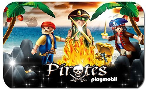 PLAYMOBIL Piraten Teppich 80 x 50 cm 100% PA 400 Gramm Latexrücken