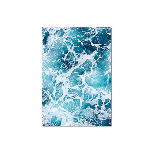 Holiday-Online-Store Succulent Plant Ocean Picture Poster Nordic Scenery Wall Art Canvas Print Painting Modern Home Room Decoration,25x36cm Unframed,Picture 3
