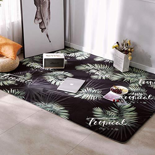 Vloerkleed voor slaapkamer, antislip, groot, modern, geometrisch, afmetingen: 80 x 185 cm