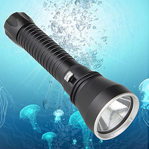 Linterna de buceo, 8000 lúmenes, luz de buceo IPX-8 impermeable subacuático 100 m para buceo camping caza y pesca